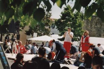 esercitazione volontari anpas rignano flaminio 2005